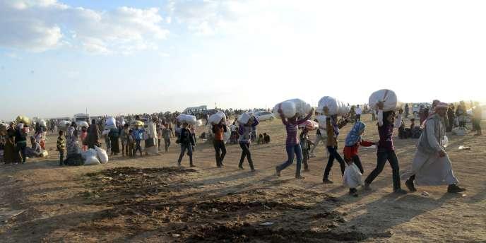 Des réfugiés syriens, le 20 septembre.