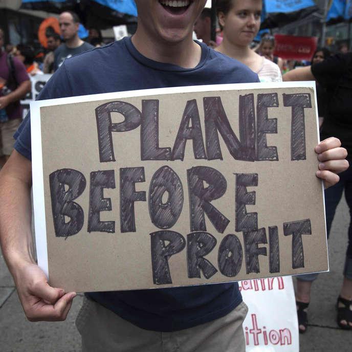 Dans la marche du peuple pour le climat, dimanche 21 septembre à New York :