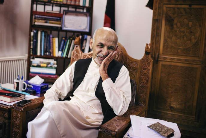 Le président afghan, Ashraf Ghani, à son domicile à Kaboul, le 20 septembre.
