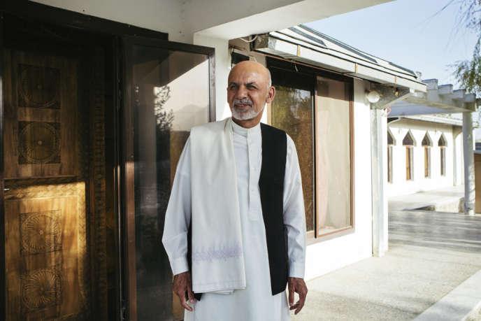 Le président afghan Ashraf Ghani à son domicile, à Kaboul, le 20 septembre.