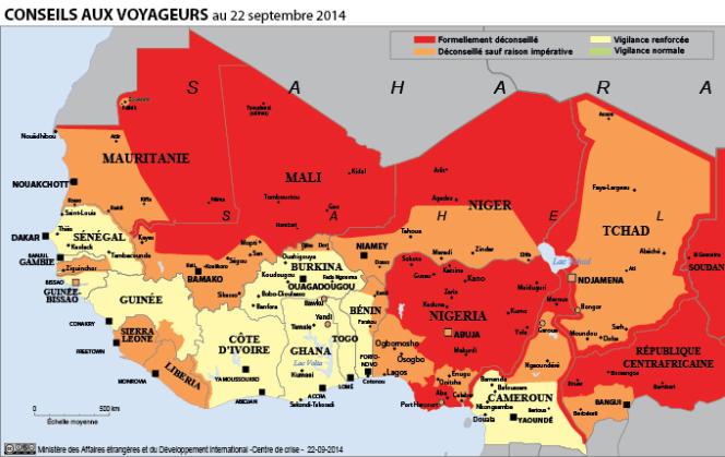 La carte des pays