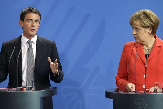 Manuel Valls et Angela Merkel à Berlin, le 22 septembre.