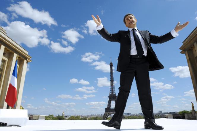 La campagne de Nicolas Sarkozy (ici le meeting au Trocadéro le 1er mai 2012) a dépassé le plafond légal de 18,5 millions d'euros, selon l'enquête.