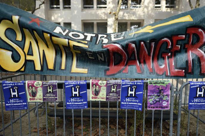 Devant le ministère de la santé, à Paris, le 23 septembre (photo d'illustration).