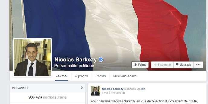 La page Facebook de Nicolas Sarkozy et se 983 473