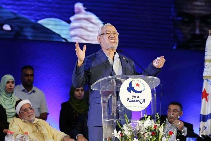 Rached Ghannouchi, leader du principal parti islamiste tunisien Ennahda.