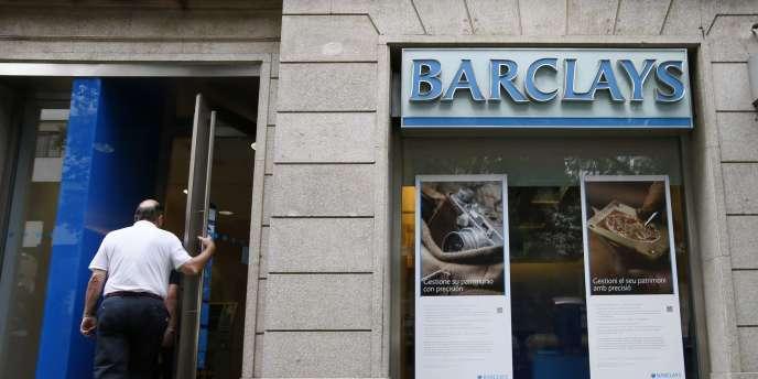 Une banque Barclays, en Espagne, le 1er septembre 2014.