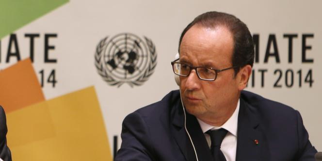 François Hollande lors du sommet sur le climat à New York, le 23 septembre.