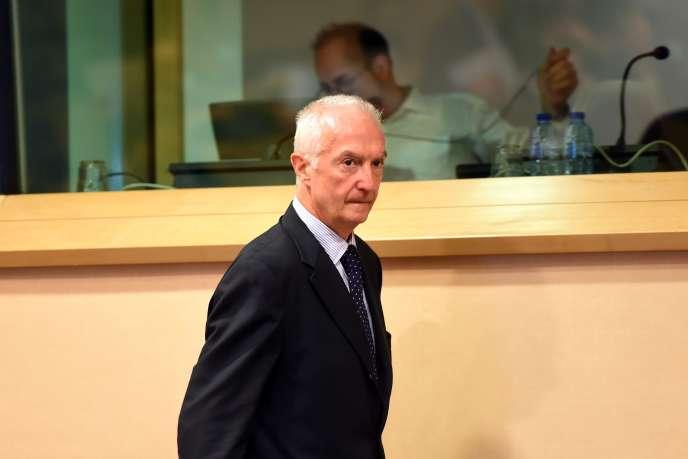Le coordinateur de la lutte antiterroriste de l'UE, Gilles de Kerchove, à Bruxelles, en septembre 2014.