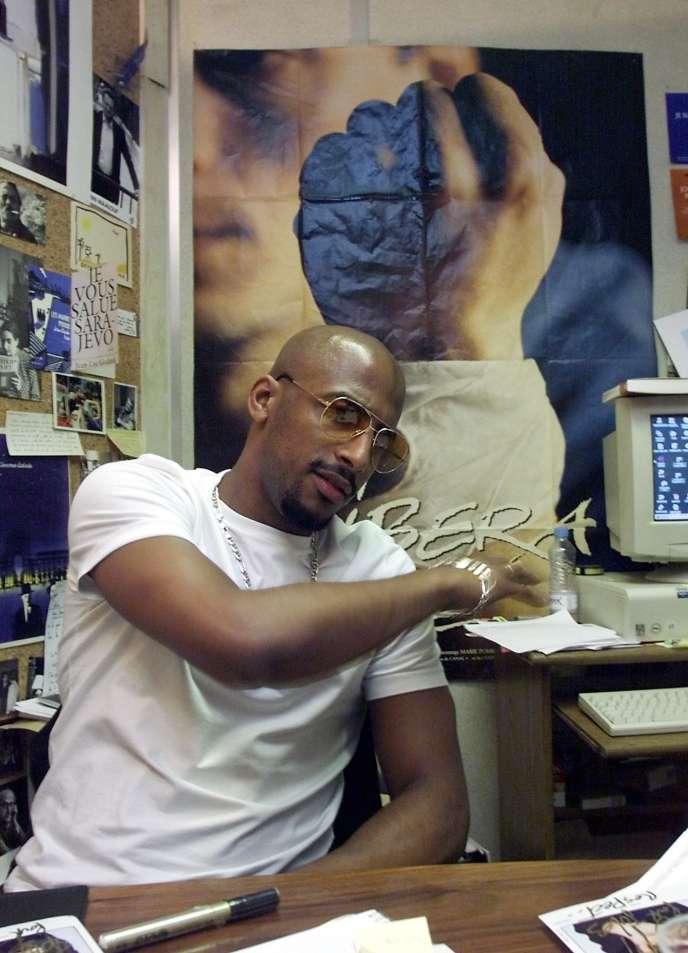 Stomy Bugsy, membre du Ministère A.M.E.R, en 2000.