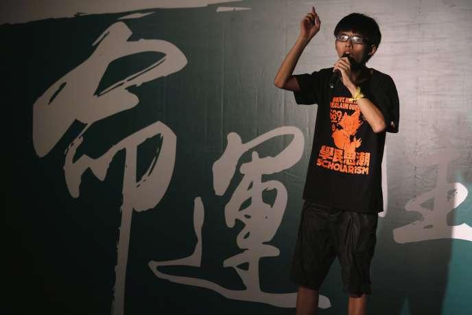 Joshua Wong, 17 ans, est la figure de proue du mouvement étudiant de Hongkong.