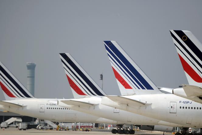 Des avions Air France à l'aéroport Roissy - Charles-de-Gaulle, le 24septembre.