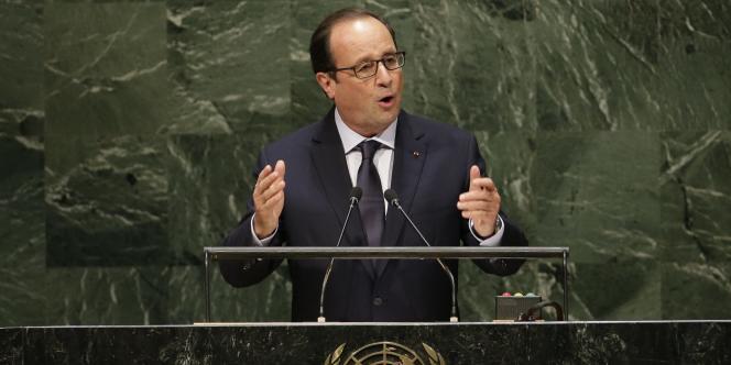 François Hollande à l'ONU, le 24 septembre 2014.