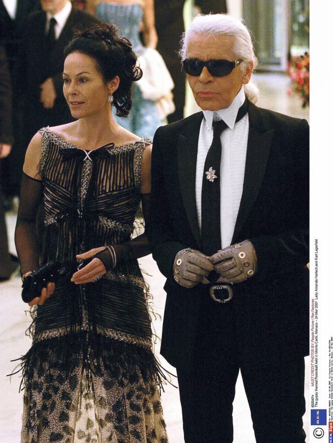 Karl Lagerfeld ici, en 2007, avec Amanda Harlech, qui a