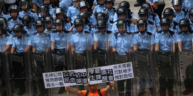 Manifestations à Hongkong.