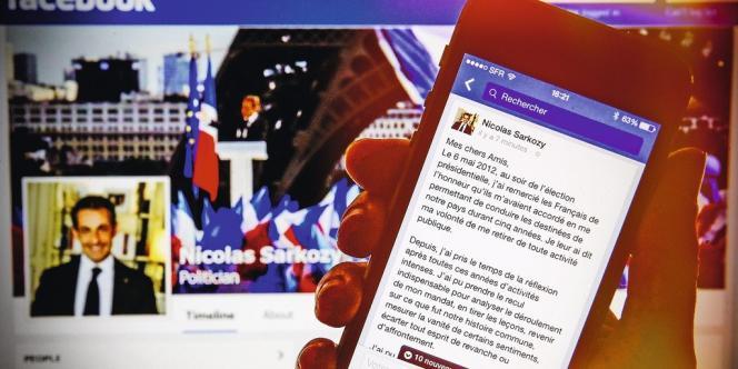 Nicolas Sarkozy a  choisi Facebook pour annoncer son retour  sur la scène politique.