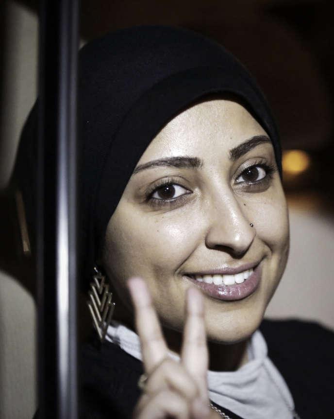 Maryam Al-Khawaja en septembre à Mouharrak, au nord de la capitale bahreïnie, Manama.