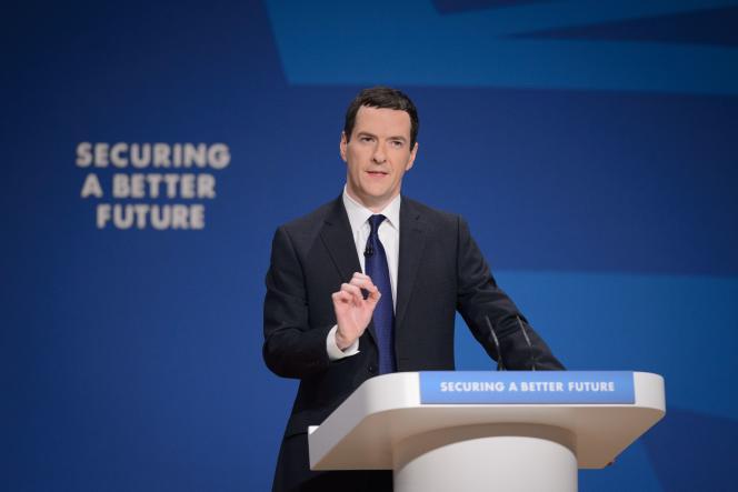 Le chancelier de l'Echiquier George Osborne, devant la conférence du parti conservateur, à Birmingham, le 29 septembre 2014.