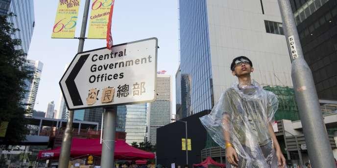 Sur ce panneau, les manifestants de Hongkong ont remplacé l'expression