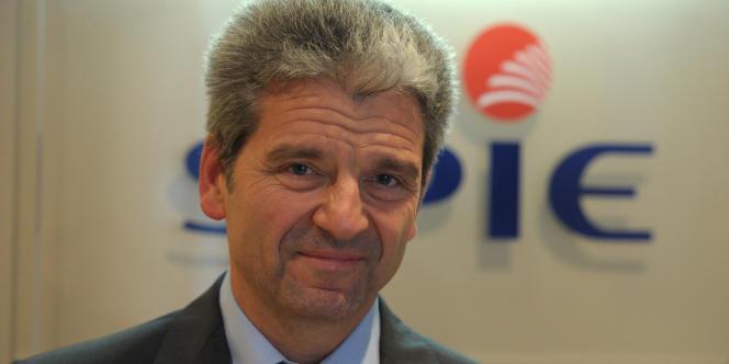 Le PDG de Spie, Gauthier Louette, le 19 septembre dans ses bureaux à Paris.