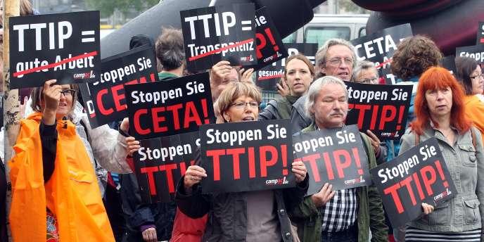 Manifestation contre le TTIP à Berlin, le 20 septembre 2014.