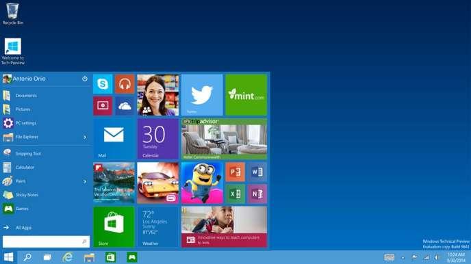 Le menu Démarrer est de retour dans Windows 10.