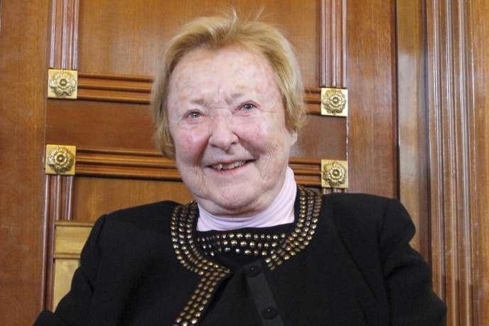 Danièle Breem, ancienne journaliste de l'ORTF, le 9 décembre 2009 à l'Assemblée nationale.