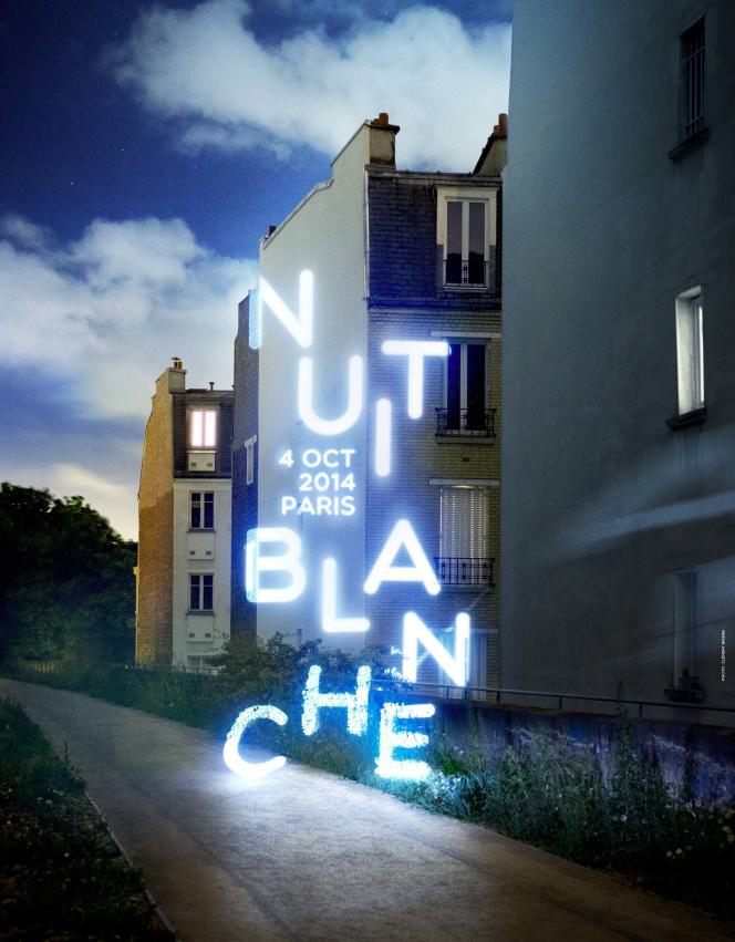 Affiche Nuit Blanche 2014.