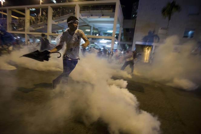 Un manifestant à Hongkong, le 29 septembre.