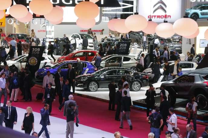 Le Mondial de l'automobile, à Paris, en 2014.