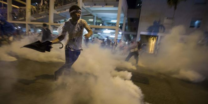 Manifestant prodémocratie à Hongkong, le 29septembre.