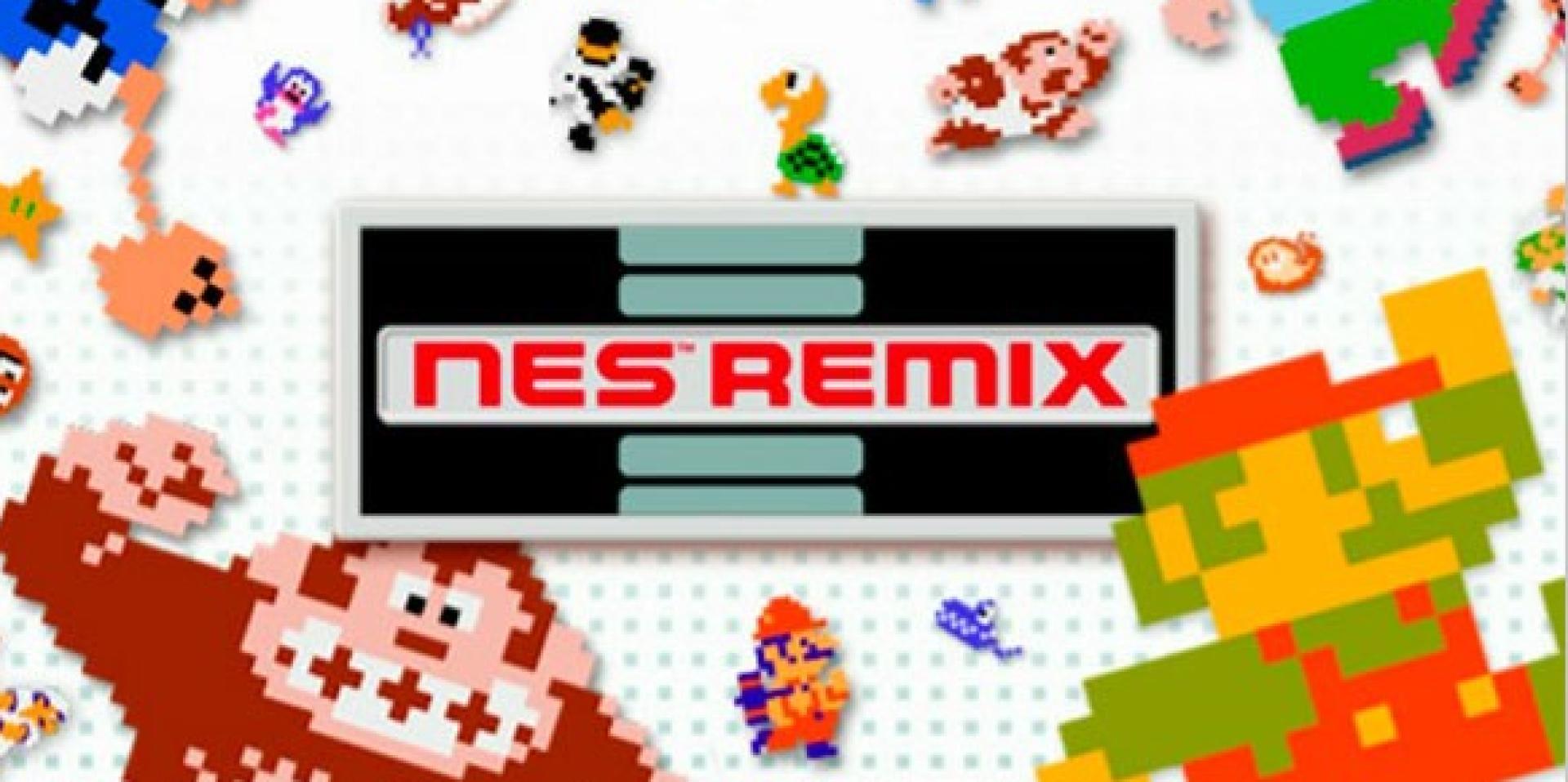 Visuel de la compilation NES Remix (2013), sur Wii U.