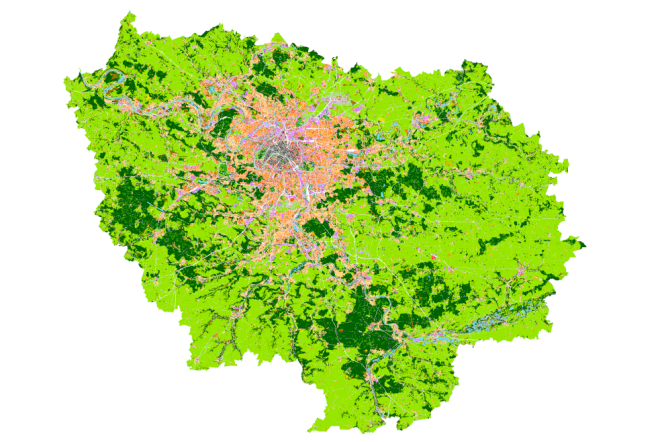 Les îlots morphologiques urbains en Ide-de-France.
