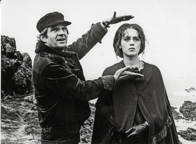 François Truffaut et Isabelle Adjani sur le tournage de « L'Histoire d'Adèle H. » (1975).