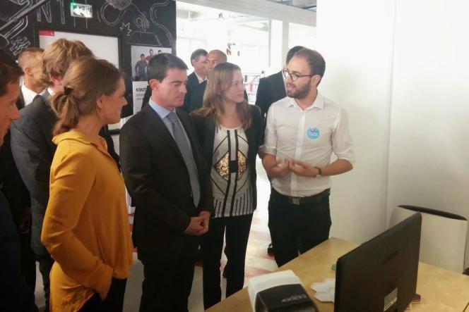 Manuel Valls et Axelle Lemaire, le 4 octobre au lancement de la consultation sur le numérique.