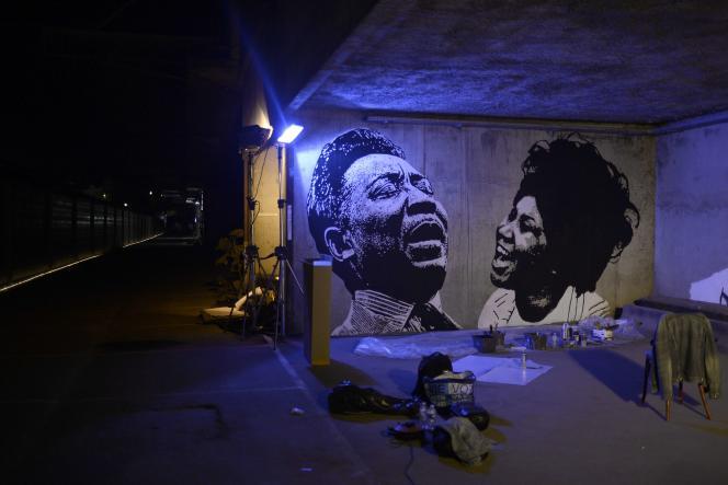 L'installation de Jef Aérosol à la Nuit blanche.