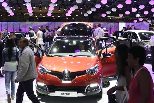 Le Captur de Renault, au salon de l'automobile de Paris, en octobre 2014.