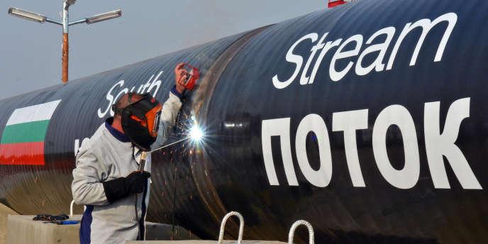 Des travaux sur le segment bulgare du South Stream, le gazoduc qui devait relier la Russie à l'Autriche, en 2013. Le projet a depuis été abandonné.