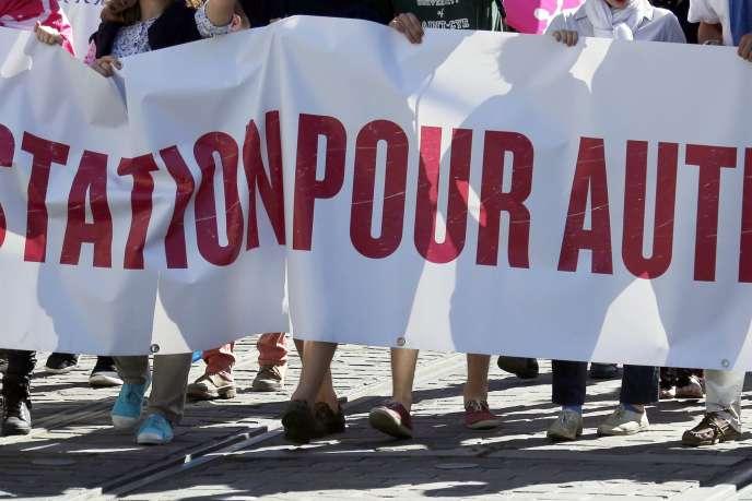 Une manifestation de La Manif pour tous à Bordeaux, le 5 octobre 2014.