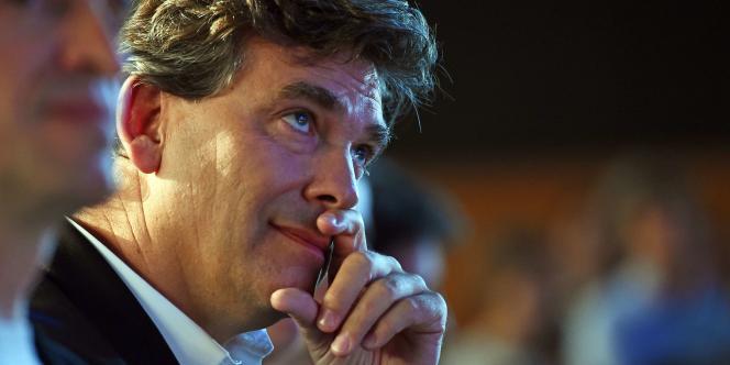 Arnaud Montebourg à L'Audun-L'Ardoise, le 5 octobre 2014.