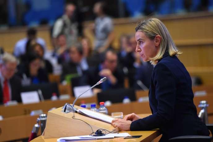 Federica Mogherini à Bruxelles, le 6 octobre.