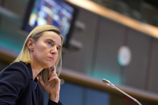 Federica Mogherini à Bruxelles le 6 octobre.