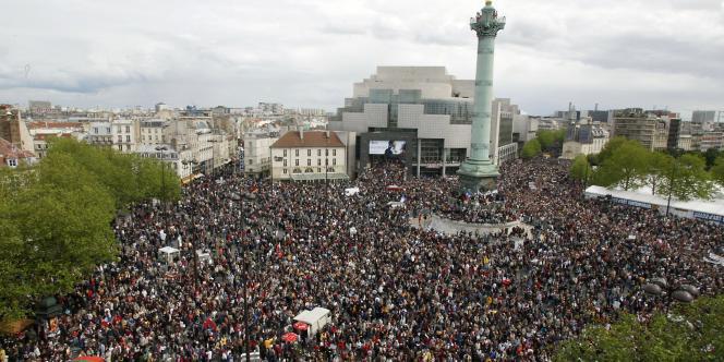 Le rassemblement anti-Le Pen avait rassemblé 400 000 personnes à Paris le 1er mai 2002 selon la police.