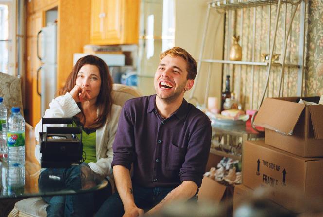 Anne Dorval et Xavier Dolan sur le tournage du film