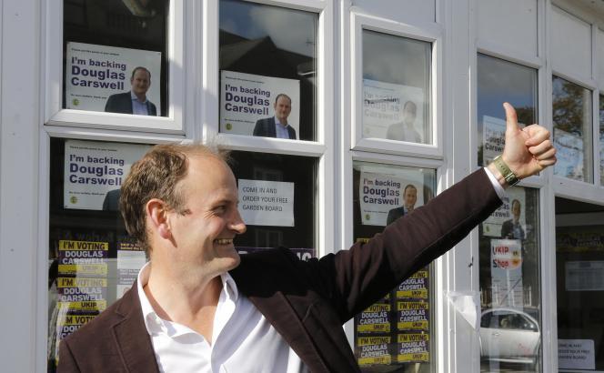 Le député UKIP, Douglas Carswell, à Clacton-on-Sea, en 2014.