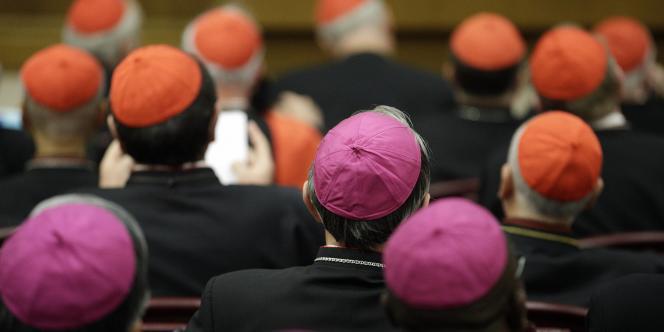 Evêques et cardinaux à l'ouverture du synode sur la famille au Vatican.