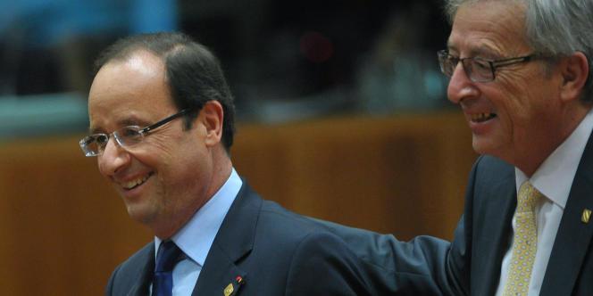 Francois Hollande et Jean-Claude Juncker.