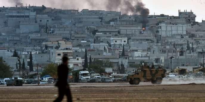 La coalition menée par les Etats-Unis a effectué de nombreux bombardements pour tenter de ralentir la progression de l'Etat islamique à Kobané, en Syrie.