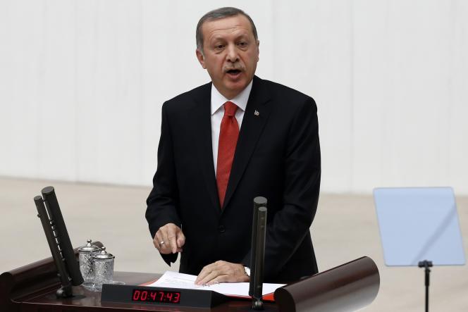 Le président Recep Tayyip Erdogan devant le Parlement turc, le 1er septembre à Ankara.
