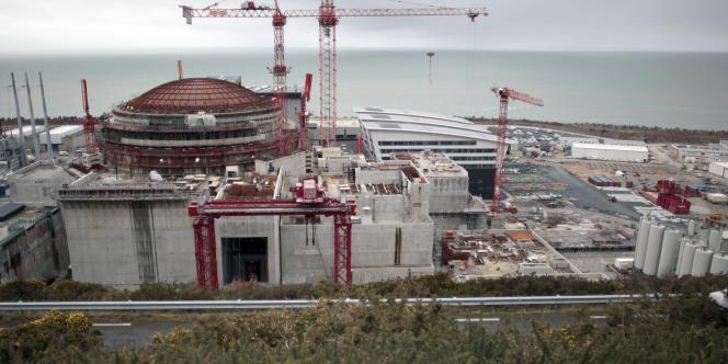 L'EPR de Flamanville en construction, en février2014.